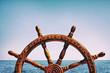 Leinwandbild Motiv Steering wheel ship