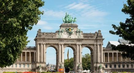 Fototapeta Triumphbogen, Jubelpark oder Park des 50-jährigen Jahrestags, Parc du Cinquantenaire, Brüssel, Belgien, Europa