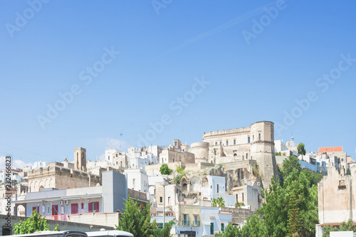 Fotografie, Obraz  Massafra, Apulia - Skyline of the middle aged village in Italy