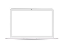 Laptop Pc With White Lcd Scree...