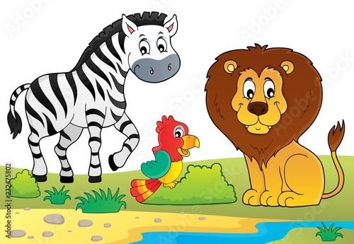 Staande foto Voor kinderen African nature theme image 6