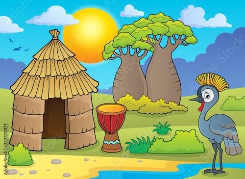 Staande foto Voor kinderen African thematics image 1