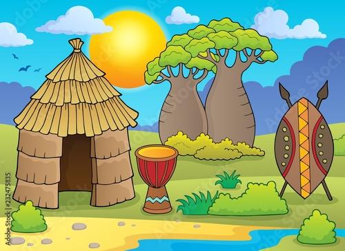 Staande foto Voor kinderen African thematics image 2