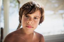 Portrait Of Little Boy On The Beach