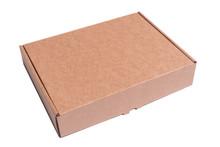Brown Cardboard Box, Isolated