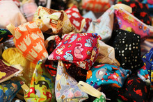 Small Bag With Cute Pattern.Colorful And Lovely, For Coins.
