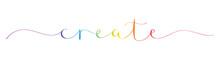 CREATE Rainbow Brush Calligrap...