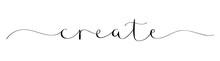 CREATE Brush Calligraphy Banner