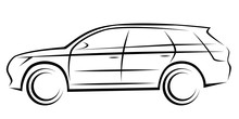 Illustration Of A SUV Car With...