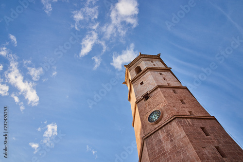 Cathedral of Santa Maria and El Fadri, a bell tower in the city of Castellon de la Plana, Spain