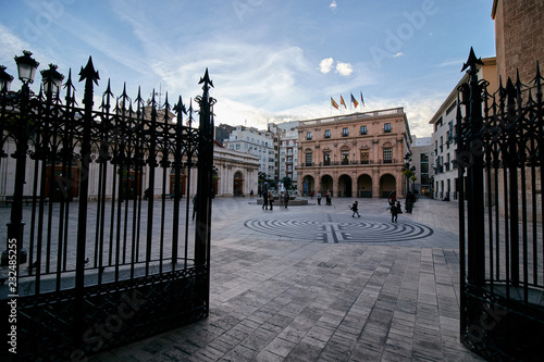 The town Hall Square of Castellon