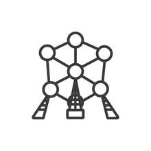 Atomium Vector Icon