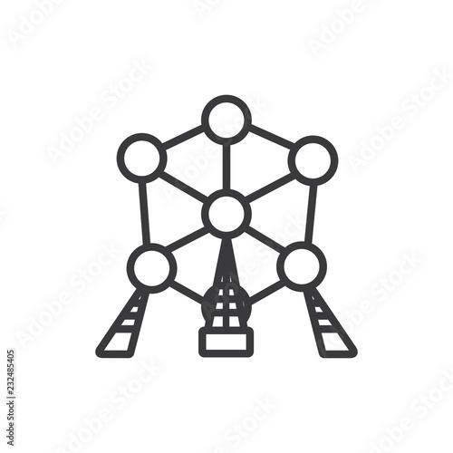 Photo Atomium vector icon
