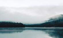 Foggy Lake In Norway
