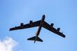 Leinwandbild Motiv US air force bomber plane in flight