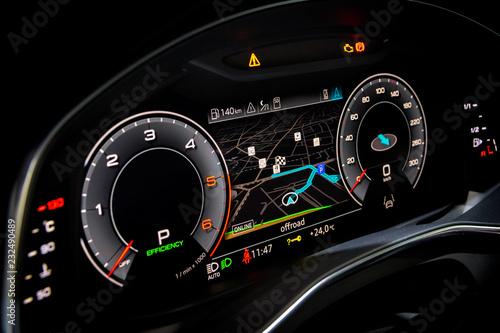 Fotografía  Modern digital dashboard car