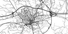 Urban Vector City Map Of Asti, Italy