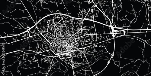 Urban vector city map of Asti, Italy Canvas Print