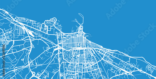 Fototapeta Urban vector city map of Bari, Italy