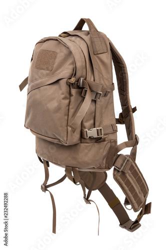Obraz na plátně  tactical backpack isolate on white