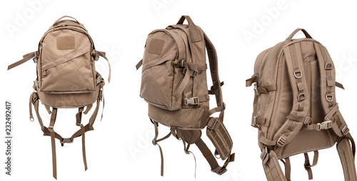 Poster Oceanië tactical backpack isolate on white