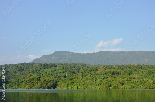 landscape of mountain in Wang Bon reservoir Thailand
