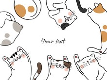 Draw Cute Cat Sleeping Artwork...