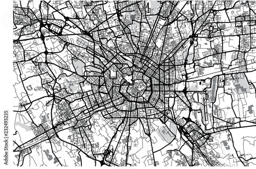 Cuadros en Lienzo Urban vector city map of Milan, Italy