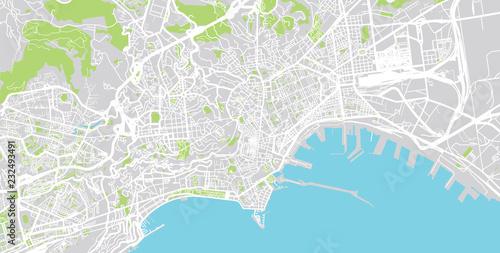 Urban vector city map of Naples, Italy – kaufen Sie diese ...