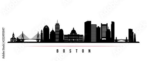 Fotografía Boston city skyline horizontal banner