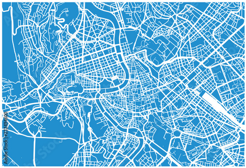 Cuadros en Lienzo Urban vector city map of Rome, Italy
