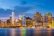 Lower Manhattan Skyline from New York Bay