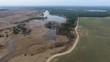 Aerial footage of the Neman River, Grodno Belarus