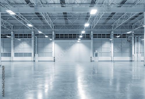 Cuadros en Lienzo Roller door or roller shutter inside factory, warehouse or industrial building