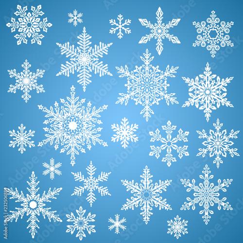 Obraz na plátně Set of Snowflakes