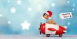 Weihnachtsbote im Flieger