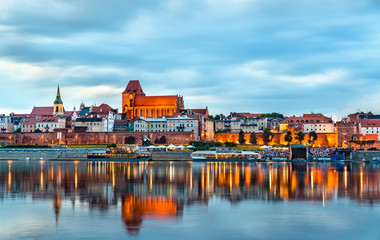 Skyline of Torun old town in Poland