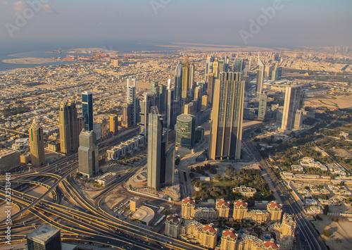Photo  Skyline von Dubai als Luftaufnahme