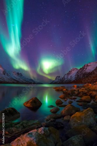 The polar lights in Norway. Tromso. Tapéta, Fotótapéta