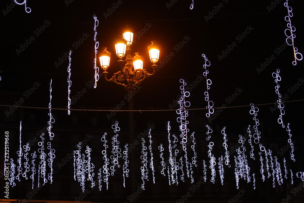 Photo Art Print Decoration Noel Madrid Espagne Christmas