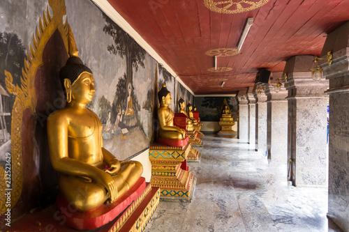 Buddha Statue Wat Phra That Doi Suthep is a Theravada buddhist temple at beautiful near Chiang Mai, Thailand.
