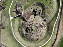 Aerial Photo Of Sandal Castle ...