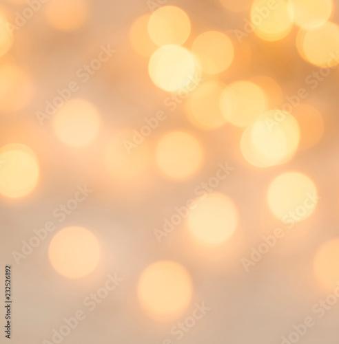 Foto op Aluminium Oranje Festive defocused Christmas lights, bright golden lights, Christmas holiday background