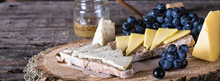 Assorted Cheeses Served With G...