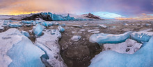 Famous Fjallsarlon Glacier And...