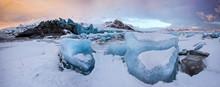 Famous Fjallsarlon Glacier And...