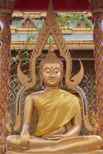Statue of Buddha in a Thai temple.