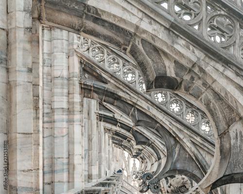 Vászonkép Duomo Cathedral Exterior Detail, Milan, Italy