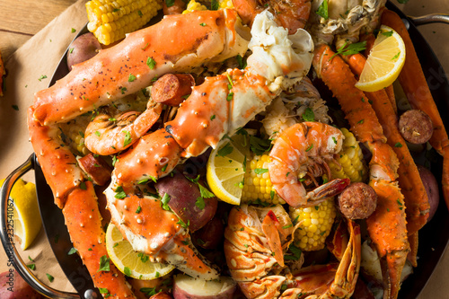 Photo Homemade Cajun Seafood Boil