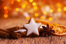 Duftende Plätzchen Und Gewürze Zu Weihnachten